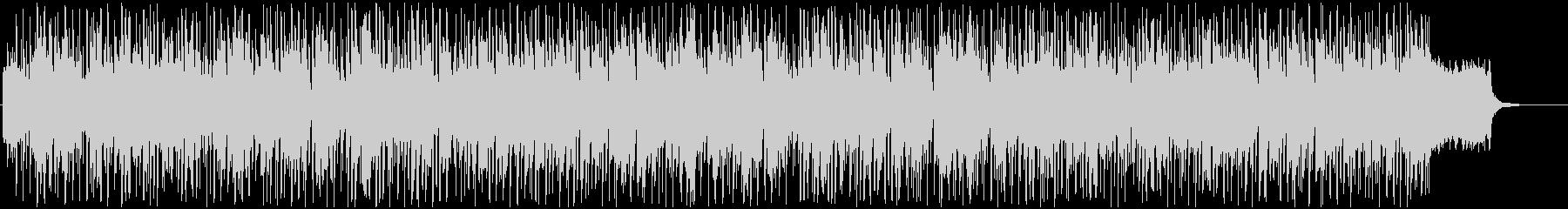 スピーディでダンサブルなBGMの未再生の波形