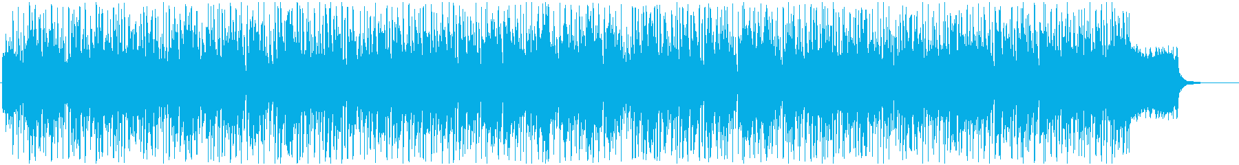 スピーディでダンサブルなBGMの再生済みの波形