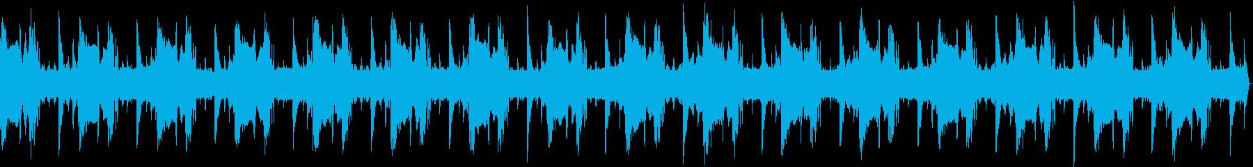全体的に暗く緊迫感のあるBGMの再生済みの波形