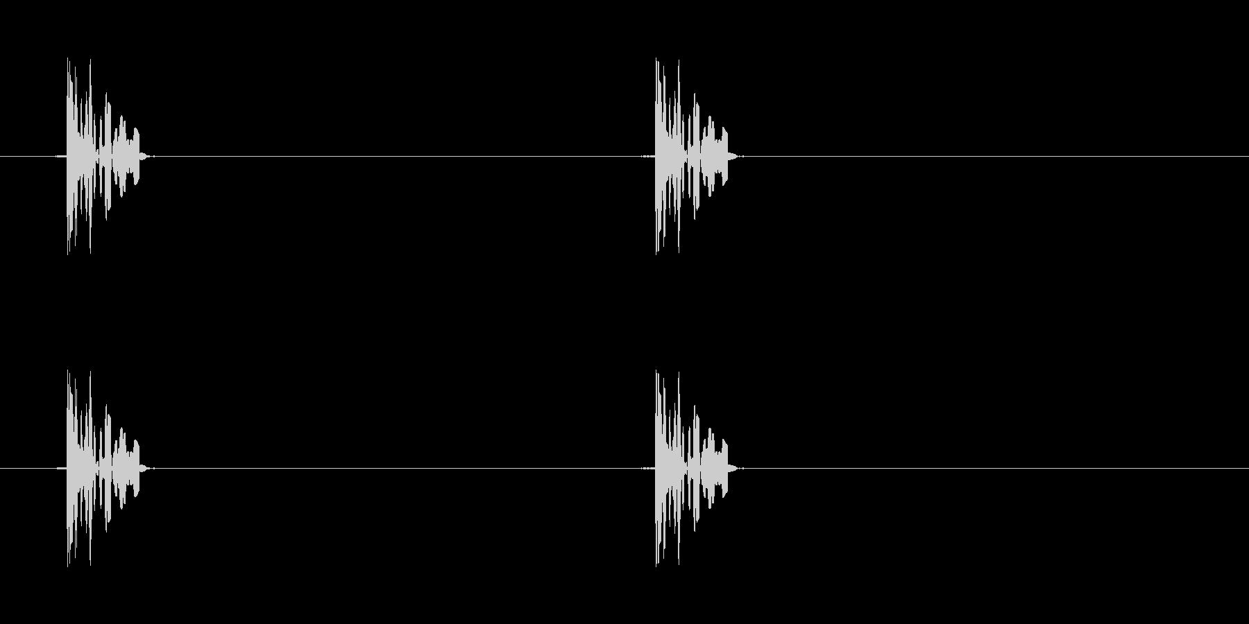 ファミコン系歩く音01 ループの未再生の波形
