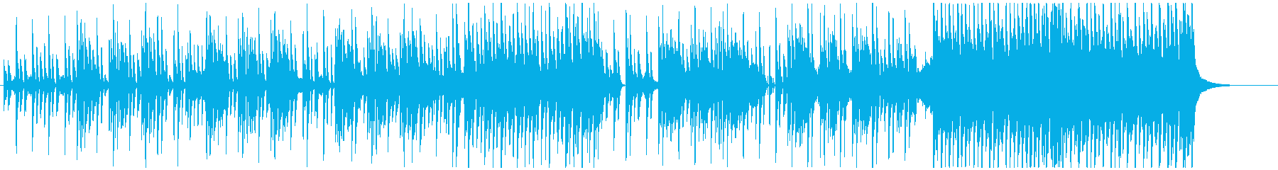 小悪魔感のあるユニークなテクノロックの再生済みの波形