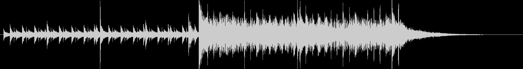 15秒・高速ジャズ・ドラムとウッドベースの未再生の波形