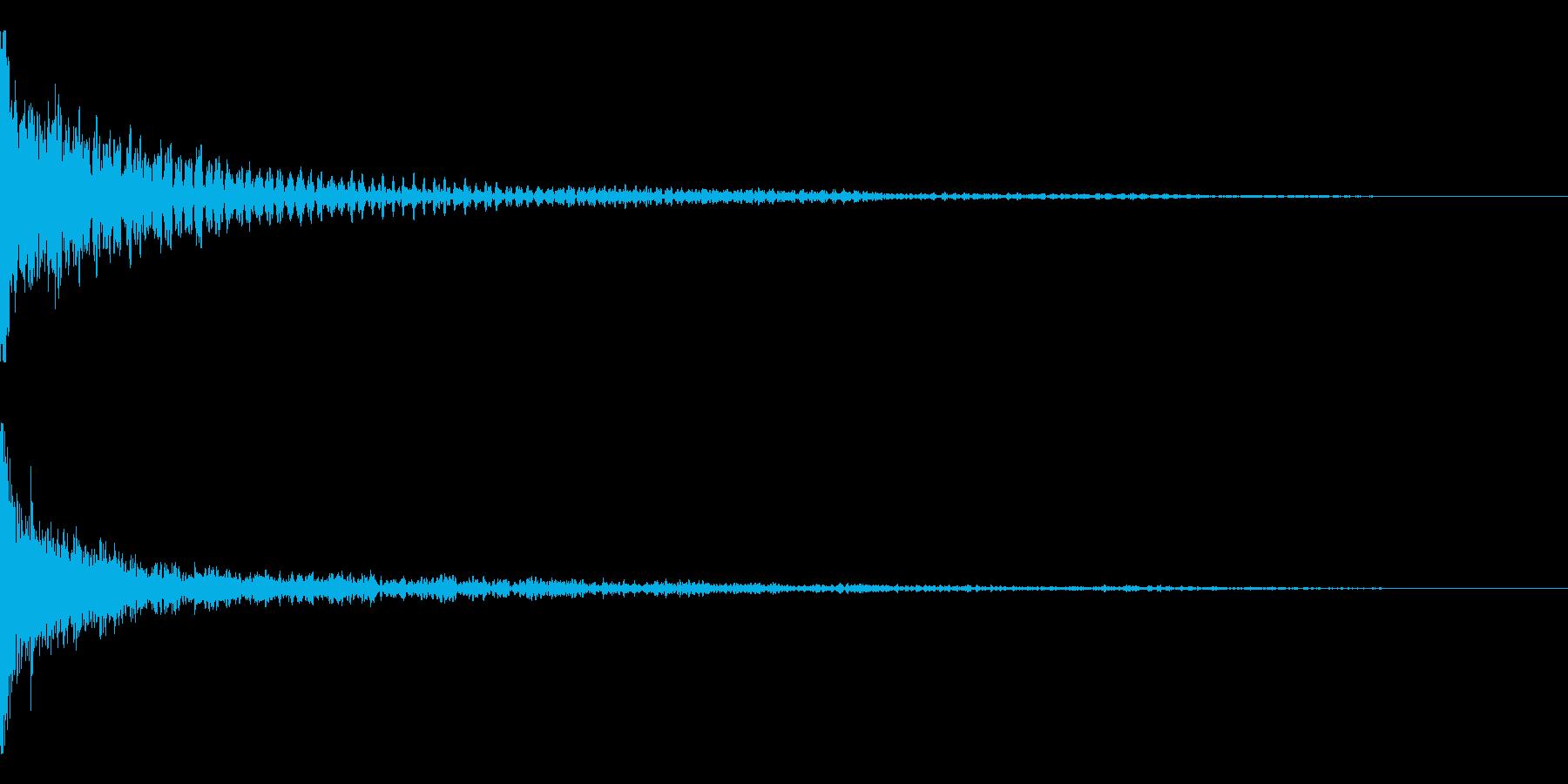 ホラー系アタック音65の再生済みの波形
