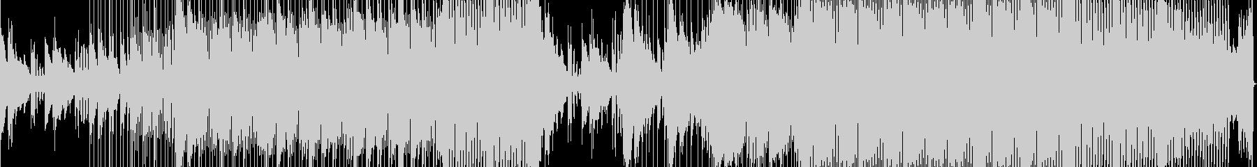 ベースの重厚感を意識したヒップホップの未再生の波形