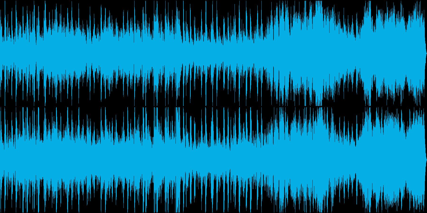 緊迫感のあるオーケストラ風行進曲の再生済みの波形