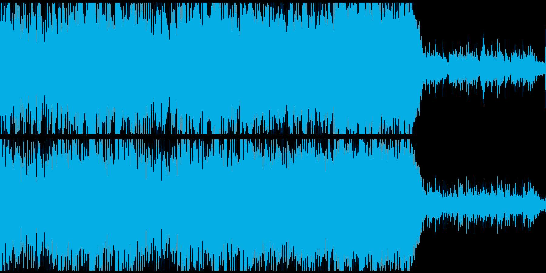 優雅でゆったりとした和風曲(ループ)の再生済みの波形