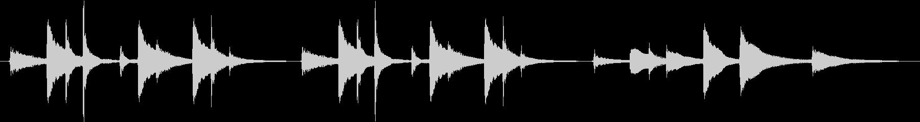 穏やか、ほのぼのとした琴のジングルの未再生の波形