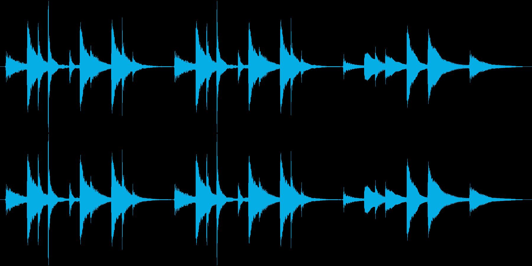 穏やか、ほのぼのとした琴のジングルの再生済みの波形