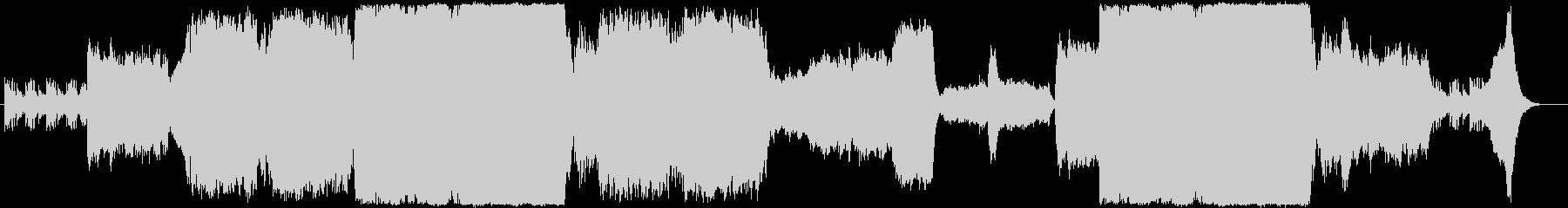 重厚壮大なエピック系オーケストラBGMの未再生の波形