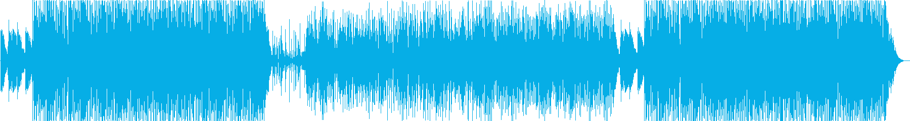 ファンクとオーソドックスジャズがMIXの再生済みの波形