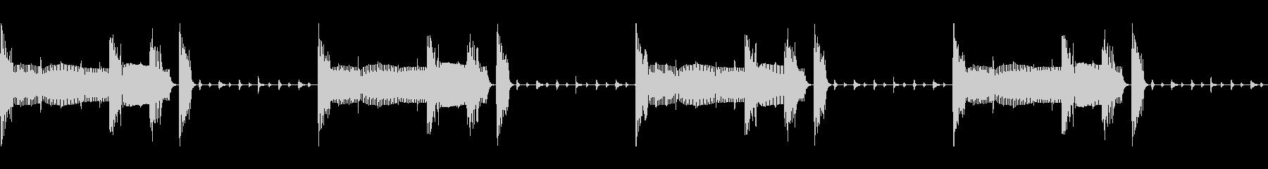 シンキングタイム、侵入(ループ)の未再生の波形