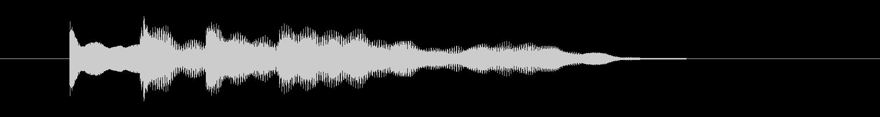お知らせの合図、ピンポン、上昇音の未再生の波形