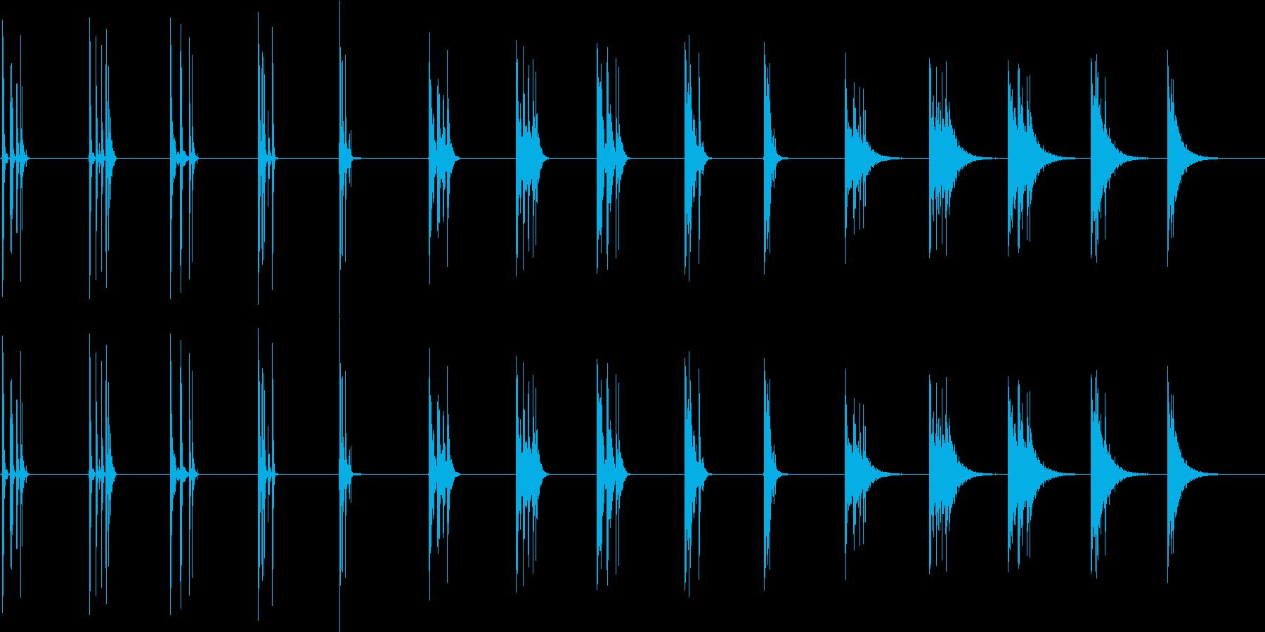 木を切る-5つのバージョンX 3ス...の再生済みの波形