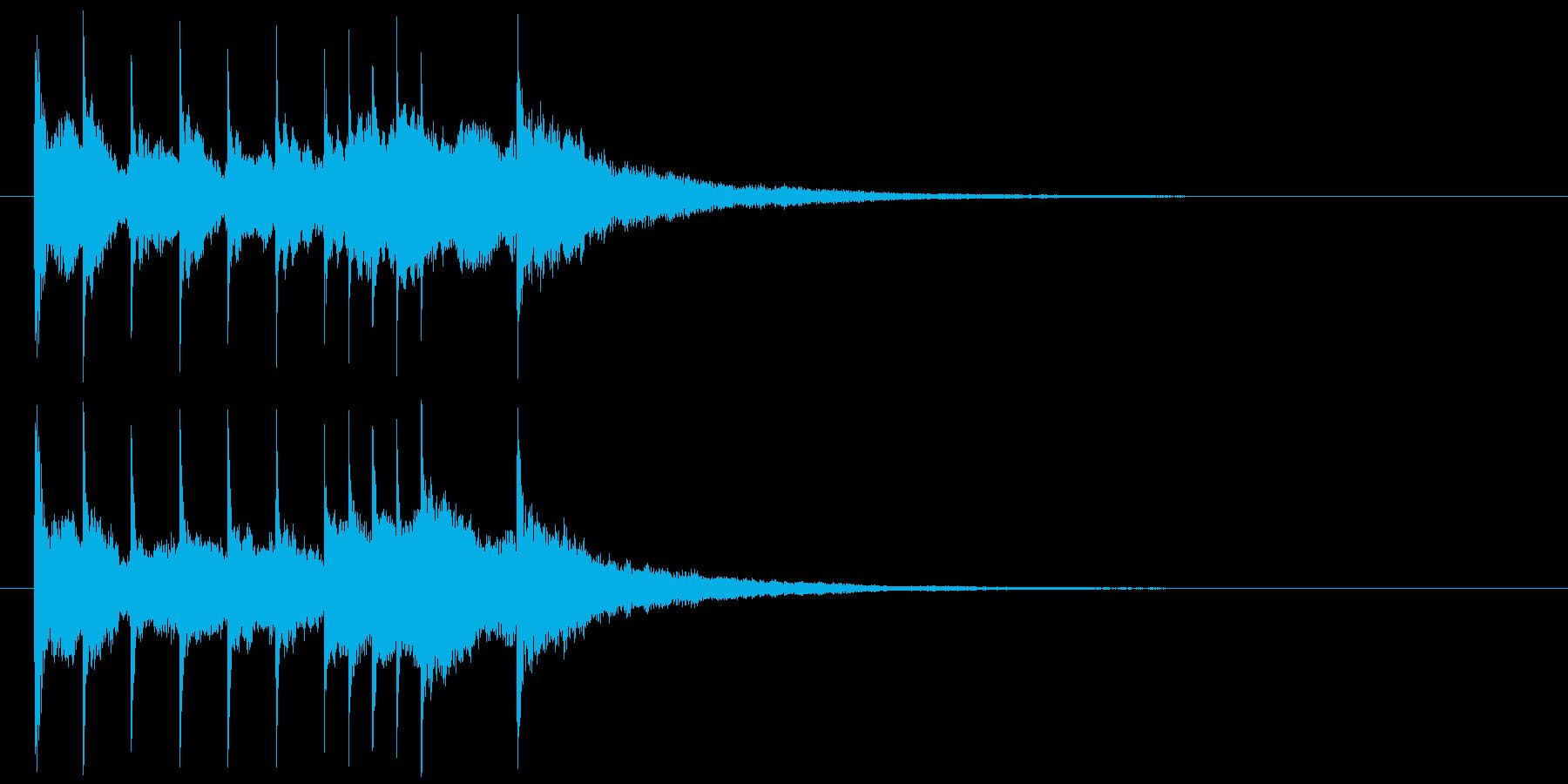 清涼感ある企業向けジングルサウンドロゴ7の再生済みの波形