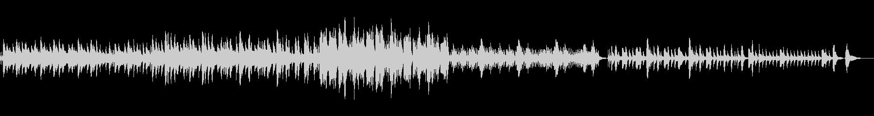 ハープの優しい音色の曲の未再生の波形