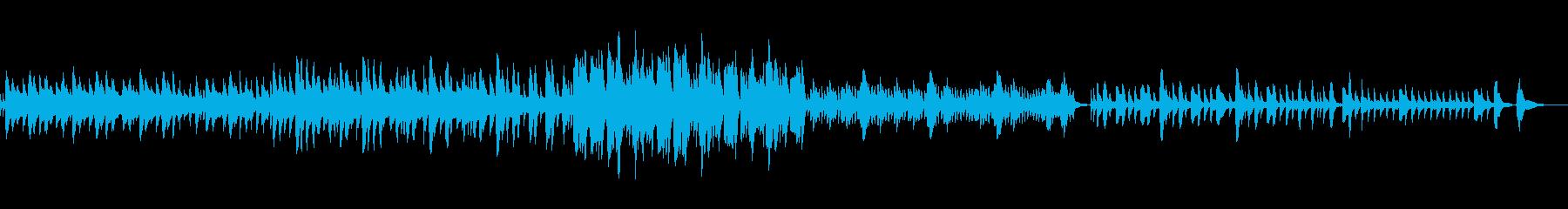 ハープの優しい音色の曲の再生済みの波形