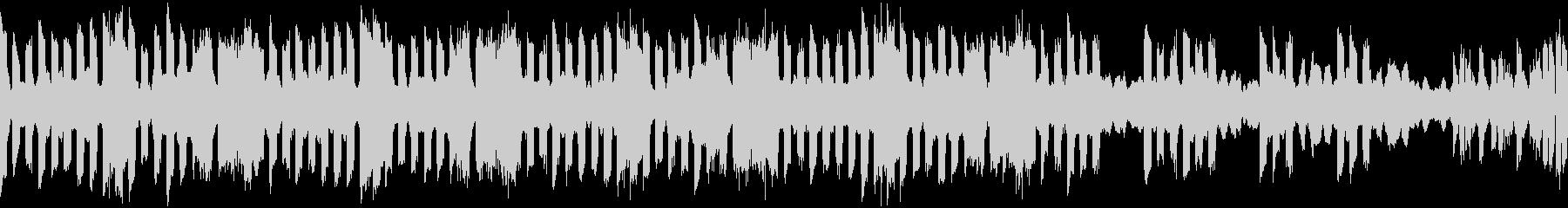 電子音と低弦による憂鬱な変拍子ループ曲の未再生の波形