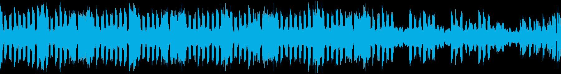 電子音と低弦による憂鬱な変拍子ループ曲の再生済みの波形