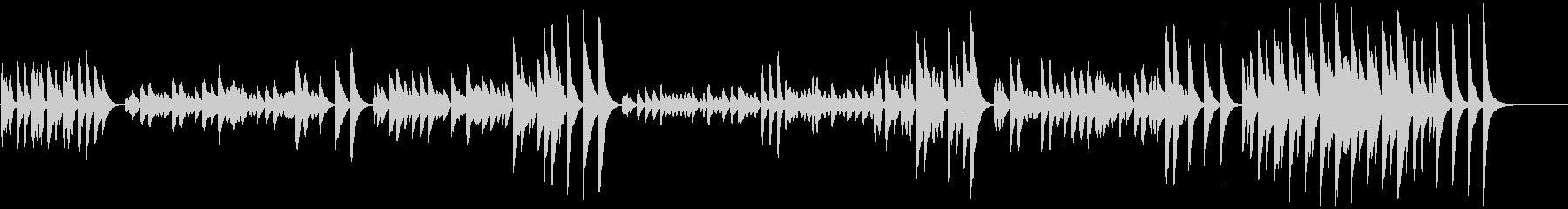 3分クッキングの原曲(マリンバ)の未再生の波形