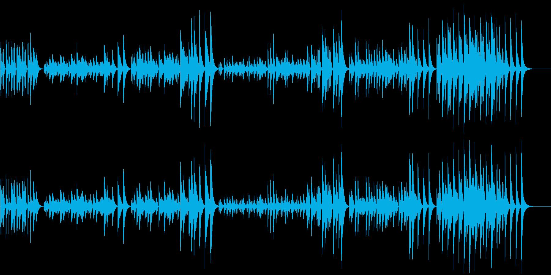 3分クッキングの原曲(マリンバ)の再生済みの波形