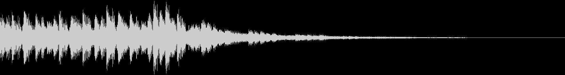 印象的余韻を味わうEDMジングル2の未再生の波形