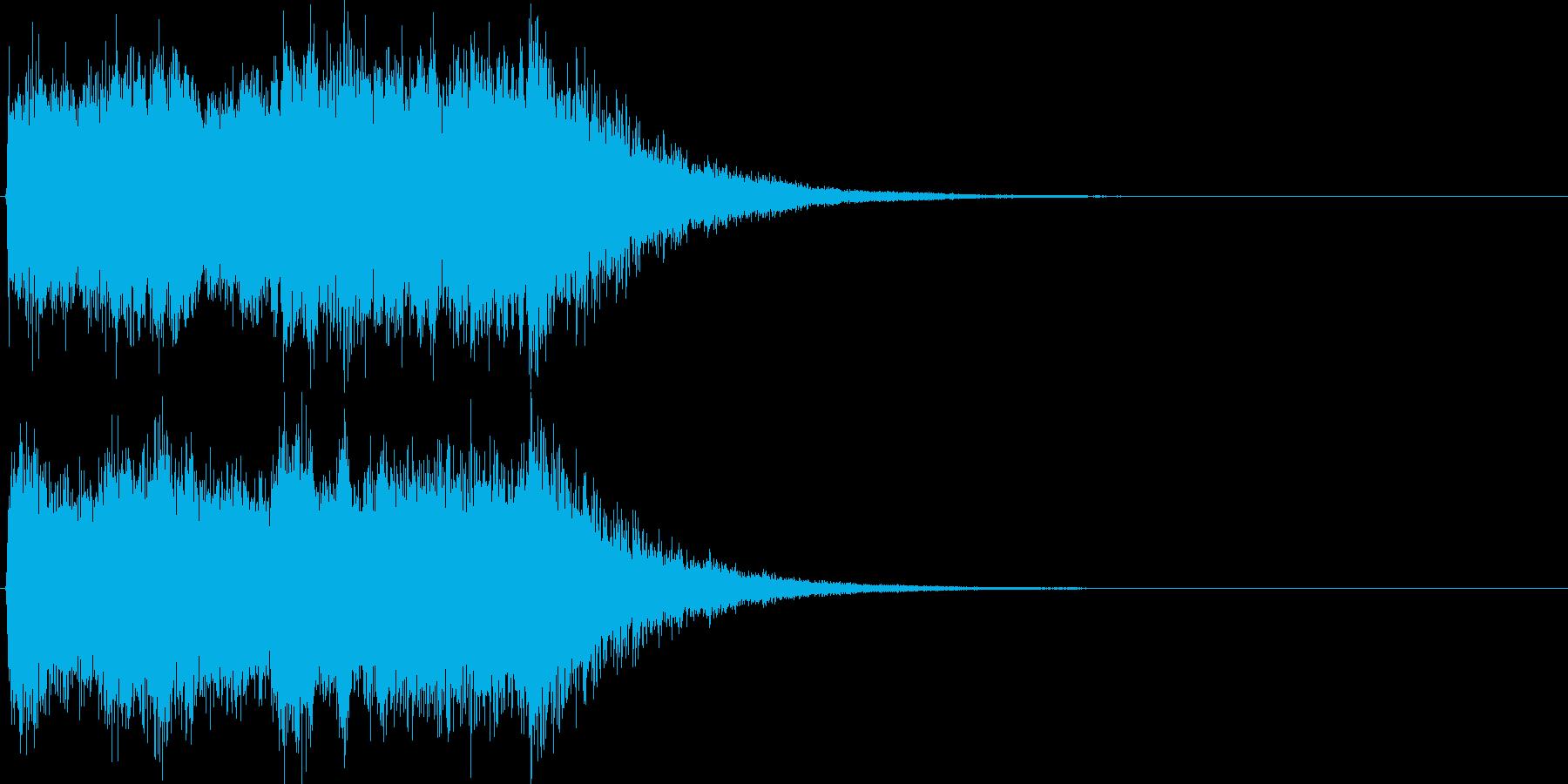 ゲームクリアSEの再生済みの波形