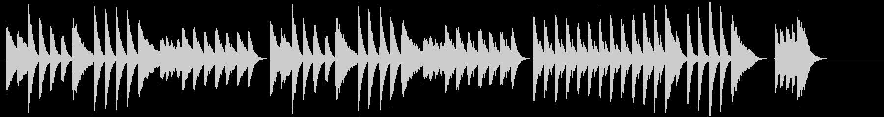 童謡・虫のこえモチーフのピアノジングルAの未再生の波形