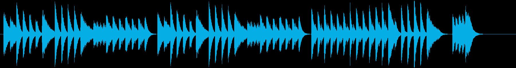 童謡・虫のこえモチーフのピアノジングルAの再生済みの波形