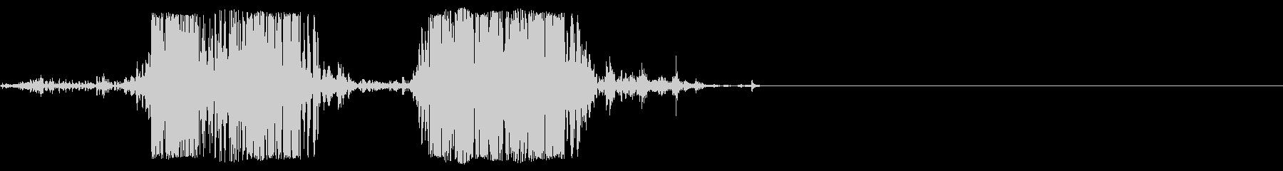 ロットワイラー犬の悪質な樹皮x 2...の未再生の波形