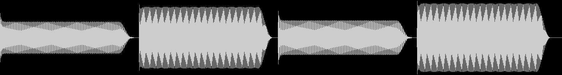 ピコピコ (レトロゲー風な一時停止)の未再生の波形