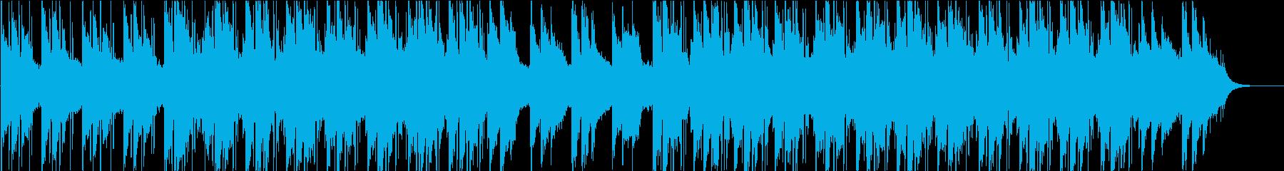 近未来的な雰囲気を持つBGM(WAV)の再生済みの波形