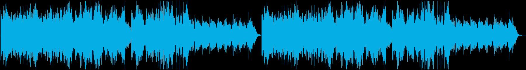 ピアノ&弦の優しい曲の再生済みの波形