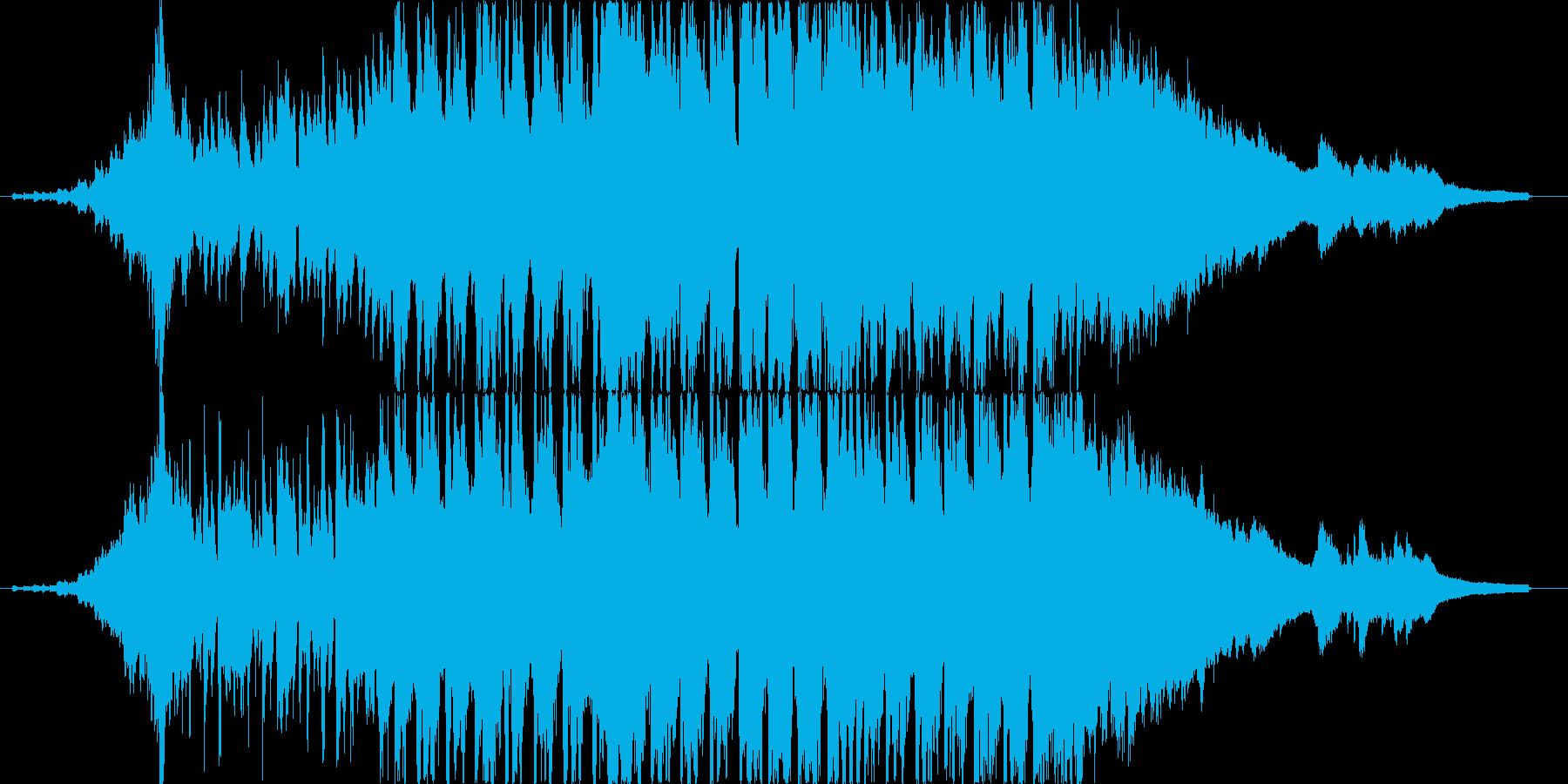元気いっぱいの国籍不明なオープニング曲の再生済みの波形