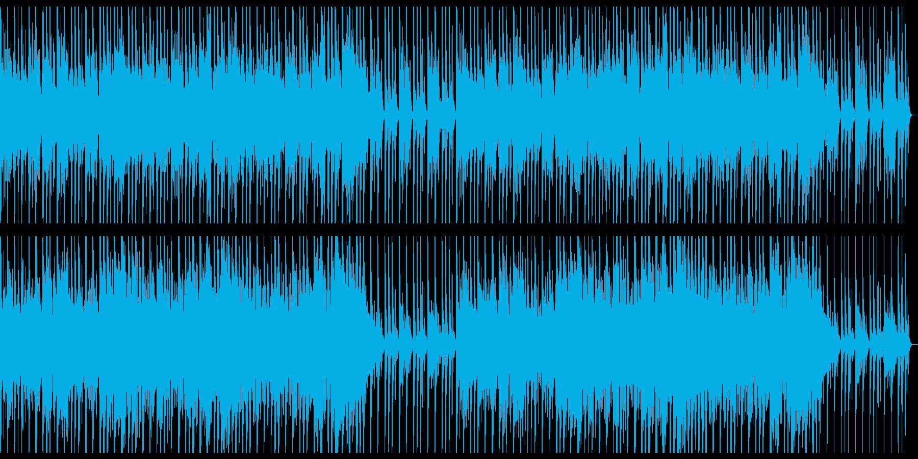 打楽器と笛の純和風祭囃子の再生済みの波形