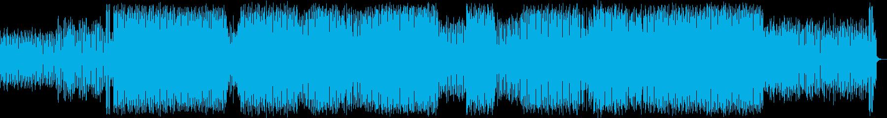 はじける感じのシンセポップハウス系の再生済みの波形