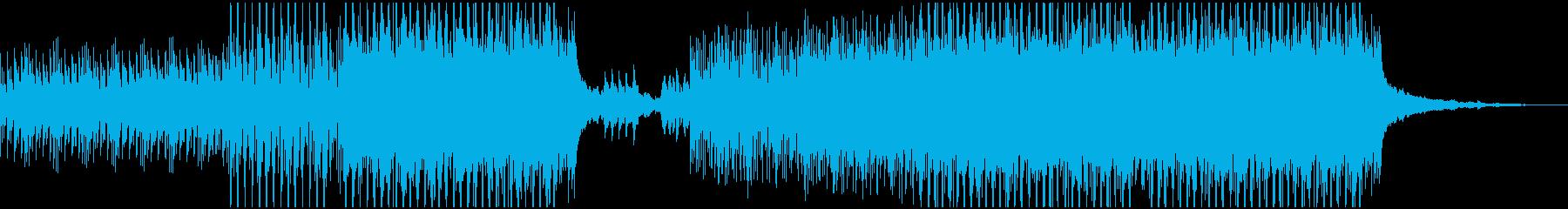 ミステリー風ダウンテンポBGMの再生済みの波形