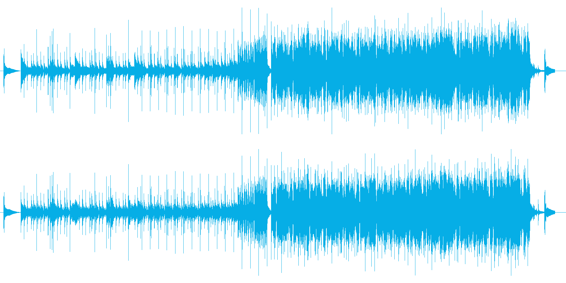 ジャズからEDMに変化する、オシャレな曲の再生済みの波形