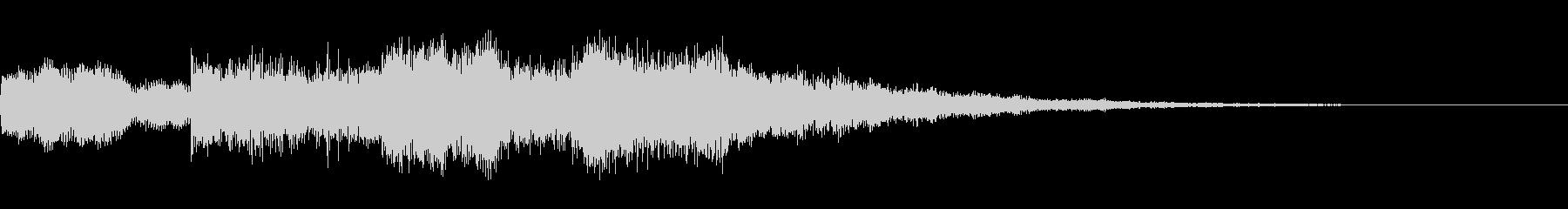 ピンポンパンポン(アナウンス始まりの音)の未再生の波形