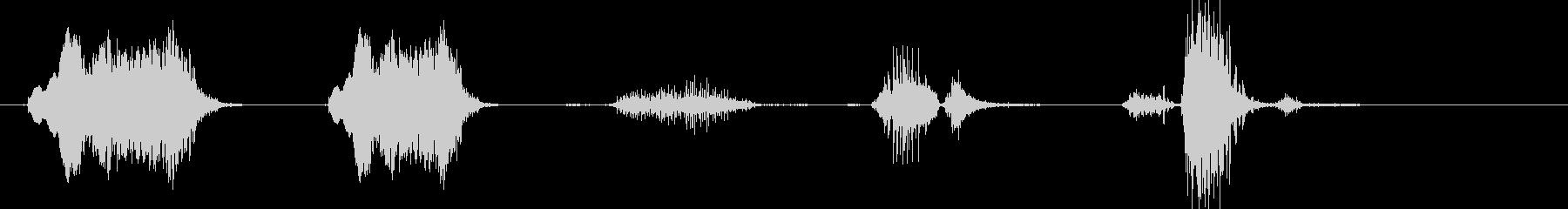 モンスターのうなり声とRo音の未再生の波形