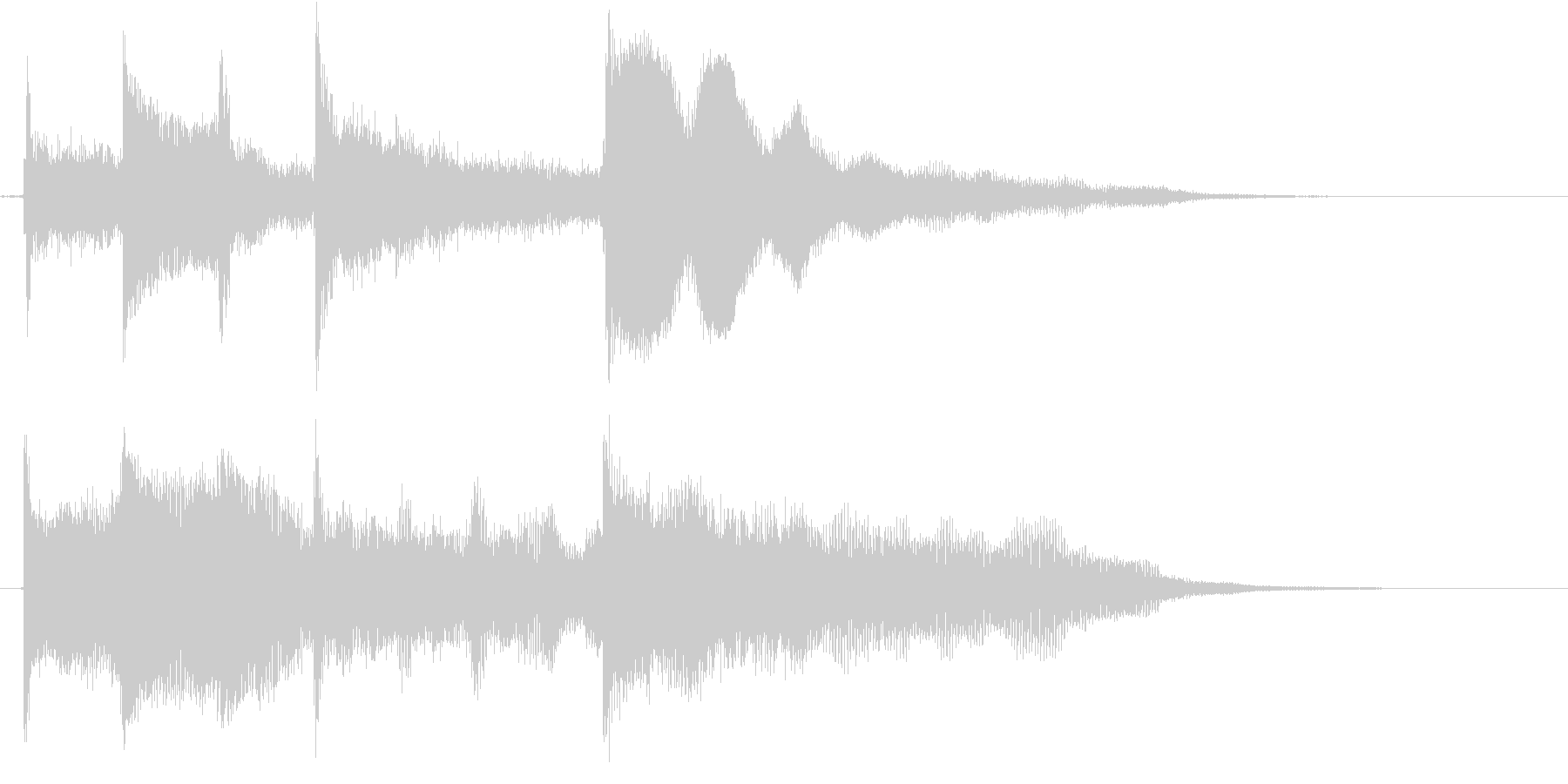 Simple & standard easy to use logo's unreproduced waveform