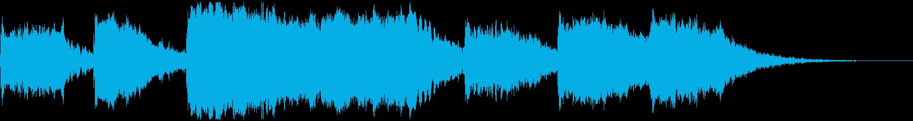 水の流れを表したヒーリングミュージックの再生済みの波形