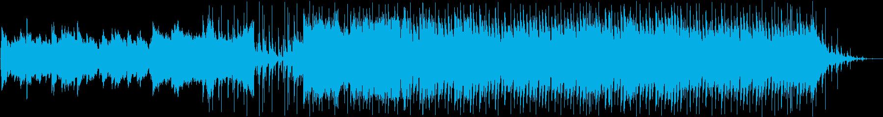 動画BGM用の小曲(切ない、哀愁)の再生済みの波形