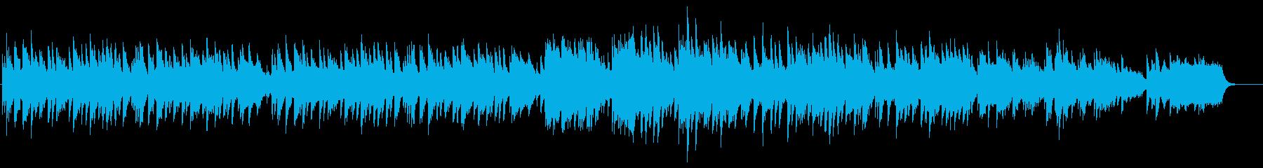 ブライダル風ピアノバラードBGMの再生済みの波形