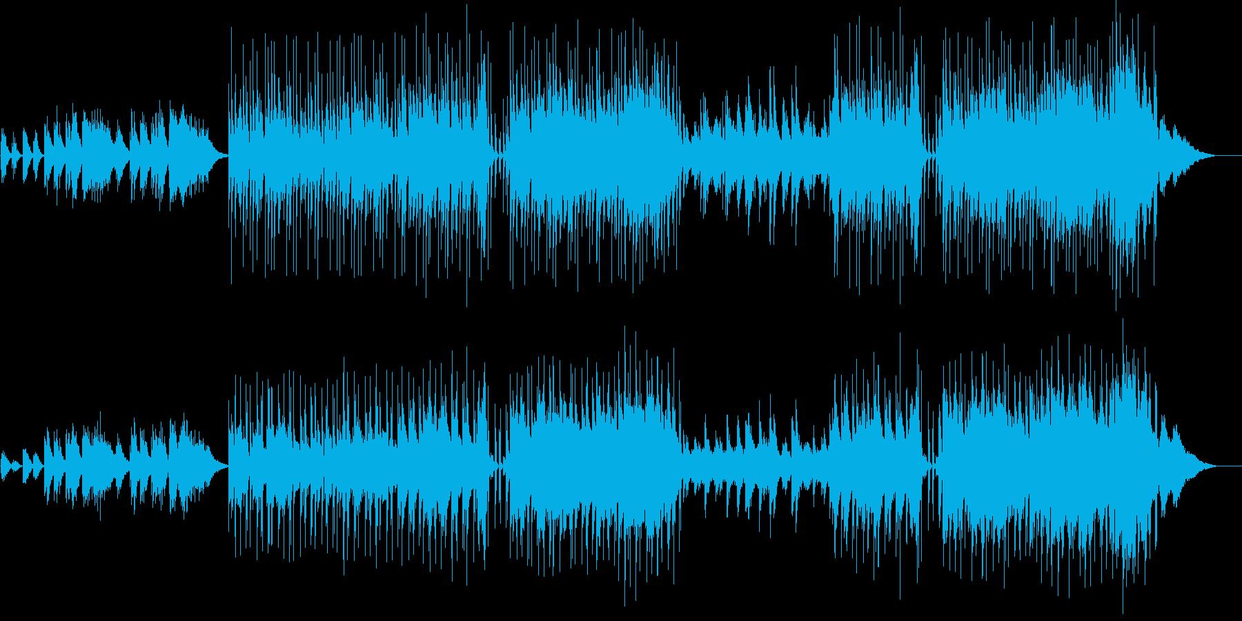 映像向けのアコースティックバラードの再生済みの波形