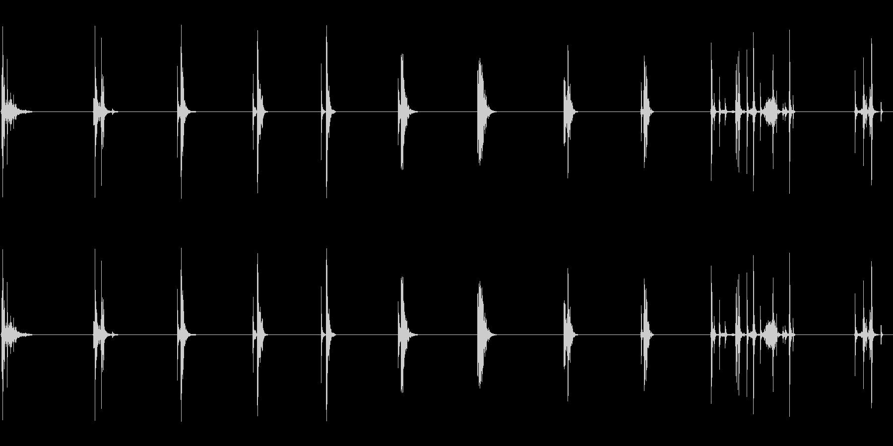 ドアウッドソリッドマルチの未再生の波形