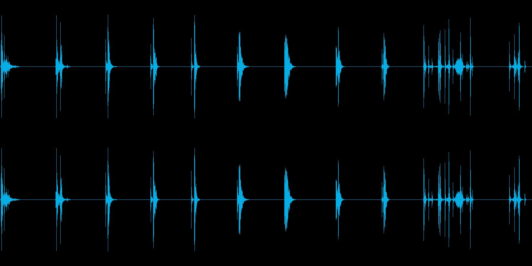 ドアウッドソリッドマルチの再生済みの波形