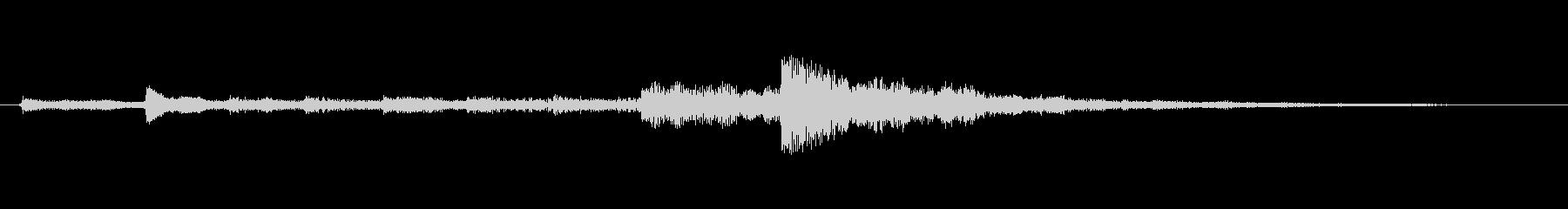 ホラー お化け文字列静かなシーケンス03の未再生の波形
