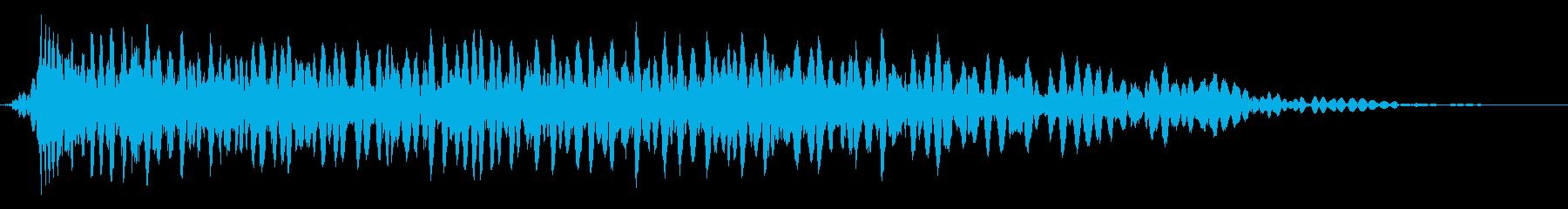 処理済みスプレートレイルによるバー...の再生済みの波形