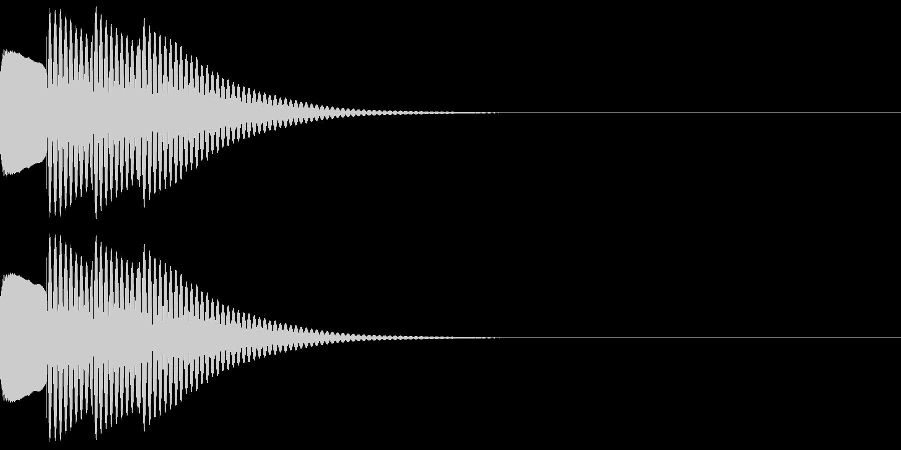ティロン(ひらめきやテロップ音などに)の未再生の波形