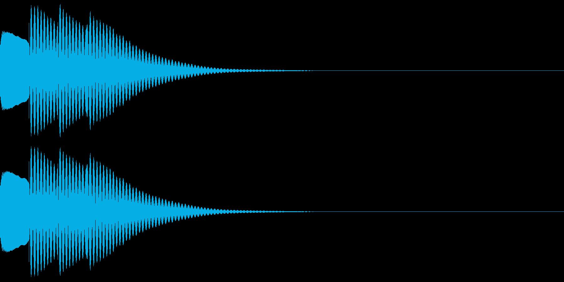 ティロン(ひらめきやテロップ音などに)の再生済みの波形